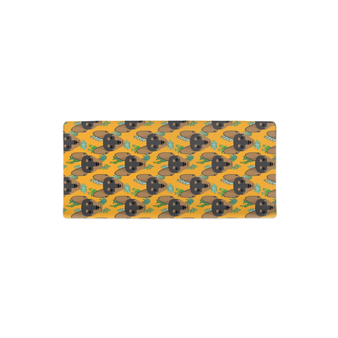 Miniature Pinscher Min Pin Yellow Succulent Changing Pad Cover
