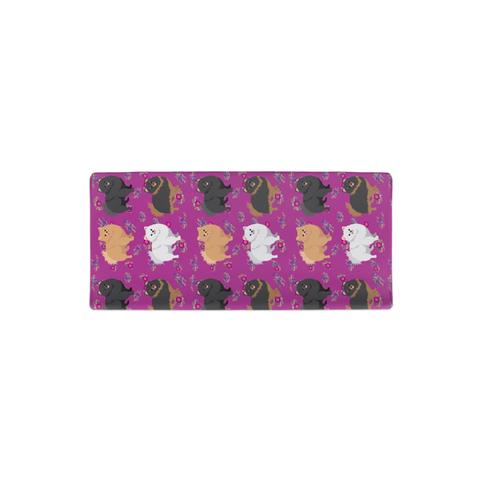 Floral Pomeranian Changing Pad Cover