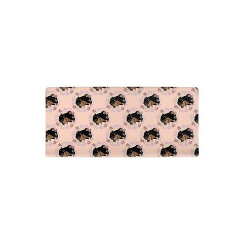 Floral Rottweiler Changing Pad Cover