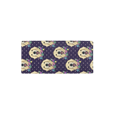 Floral Golden Retriever Faces Changing Pad Cover