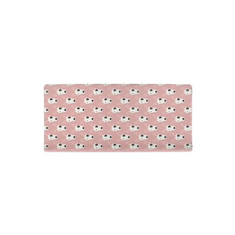 Bull Terrier Faces on Pink Changing Pad Cover