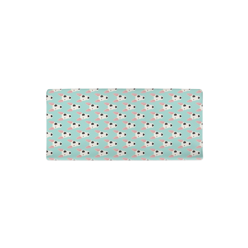 Bull Terrier Faces on Light Blue Changing Pad Cover