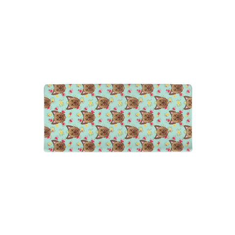 Floral Yorkie Changing Pad Cover
