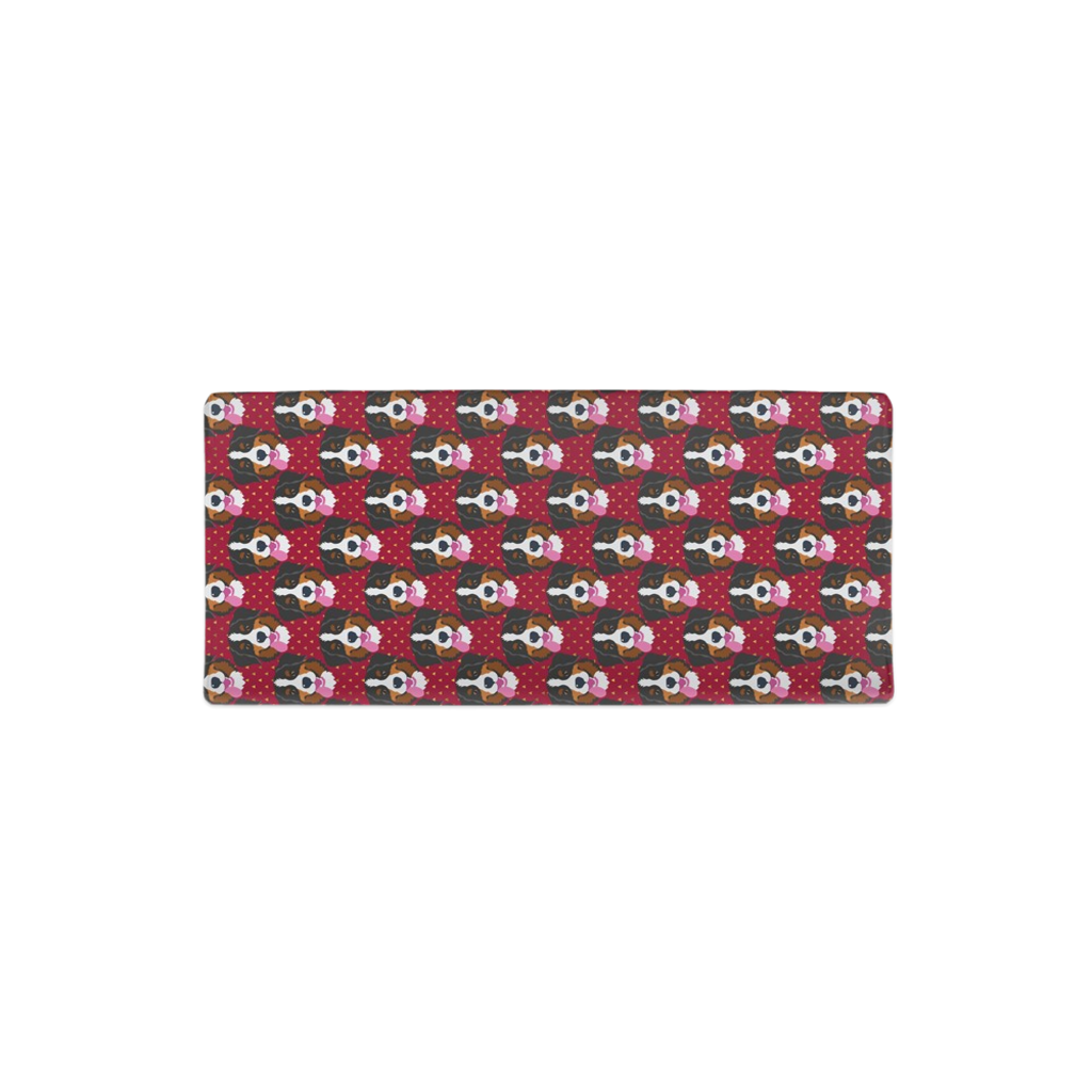 Bernese Mountain Dog Red Changing Pad Cover