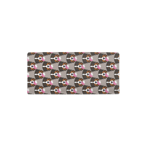 Bernese Mountain Dog Grey Changing Pad Cover