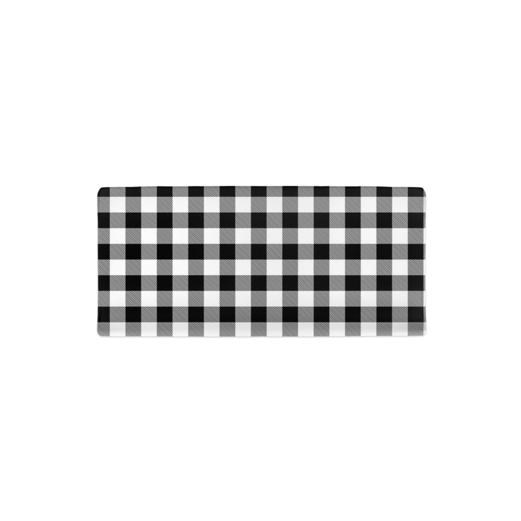 Black and White Buffalo Plaid Changing Pad Cover