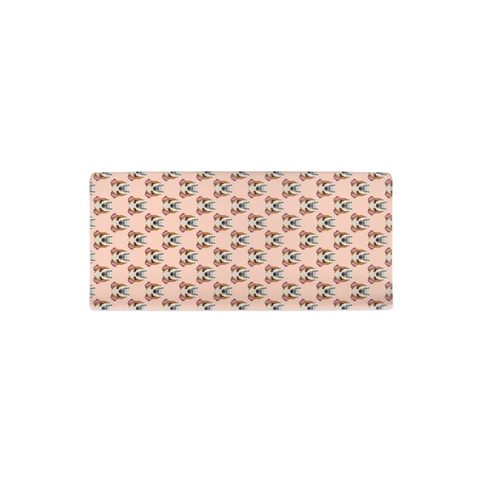 English Bulldog on Peach Changing Pad Cover