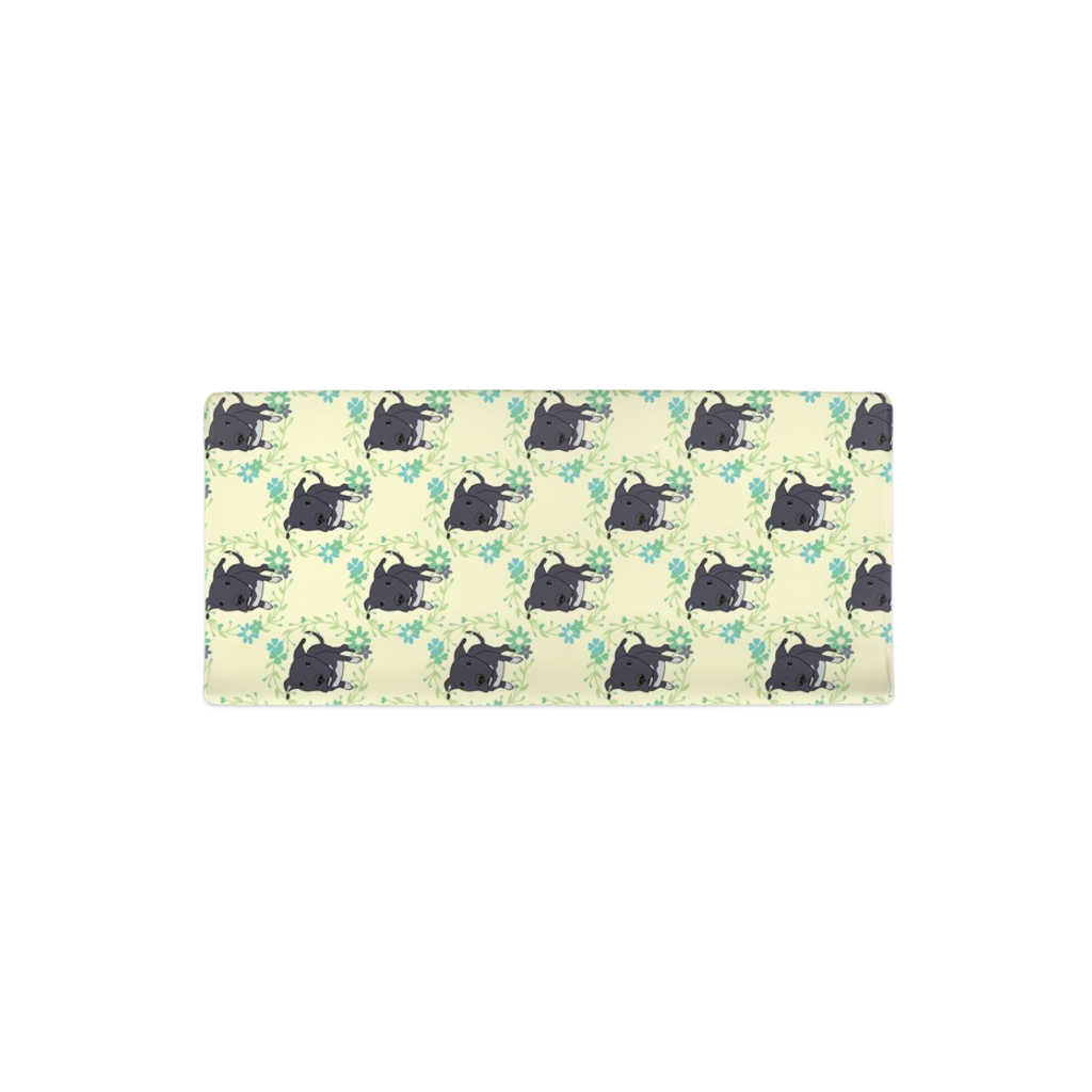 Floral Dori the Pitbull Changing Pad Cover