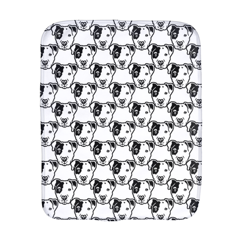 Pitbull Face Burp Cloth