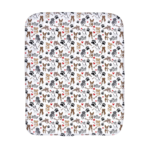 So Pitty Pitbull White Burp Cloth