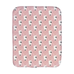 Bull Terrier Faces on Pink Burp Cloth