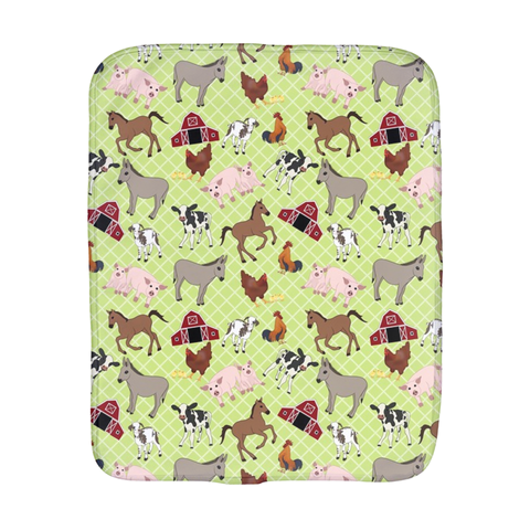 Farm Animals Burp Cloth