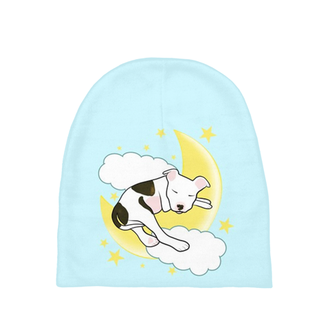 Sleeping Pitbull Newborn Hat