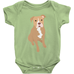 Tan & White Pitbull Infant Bodysuit