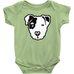 Black & White Pitbull Face Infant Bodysuit