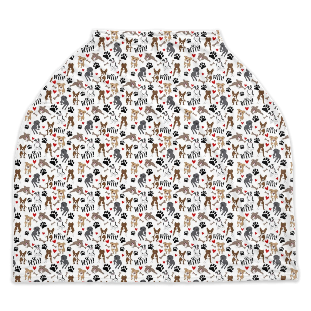 White So Pitty Pitbull Car Seat / Nursing Cover