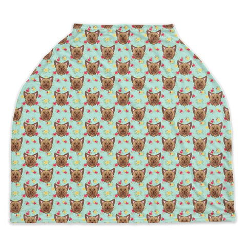 Floral Yorkie Car Seat / Nursing Cover