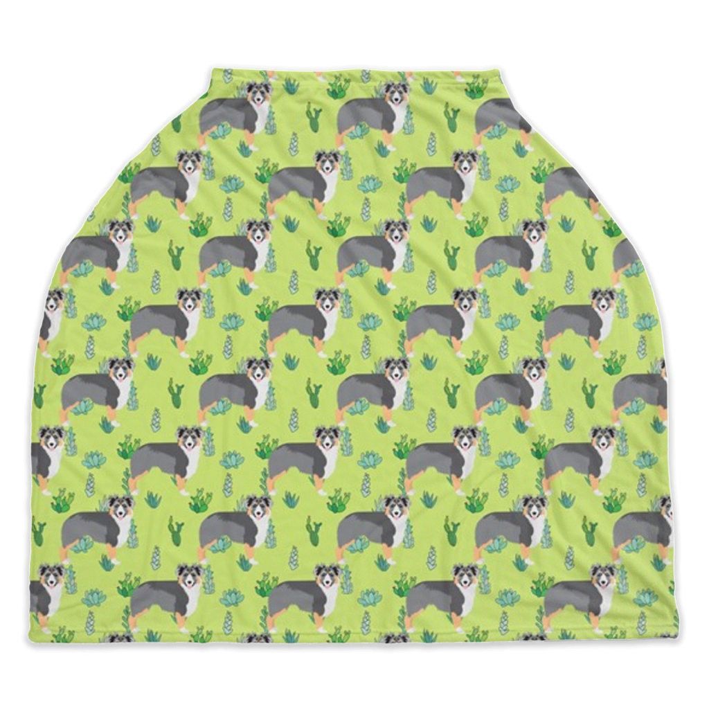 Australian Shepherd Car Seat/ Nursing Cover
