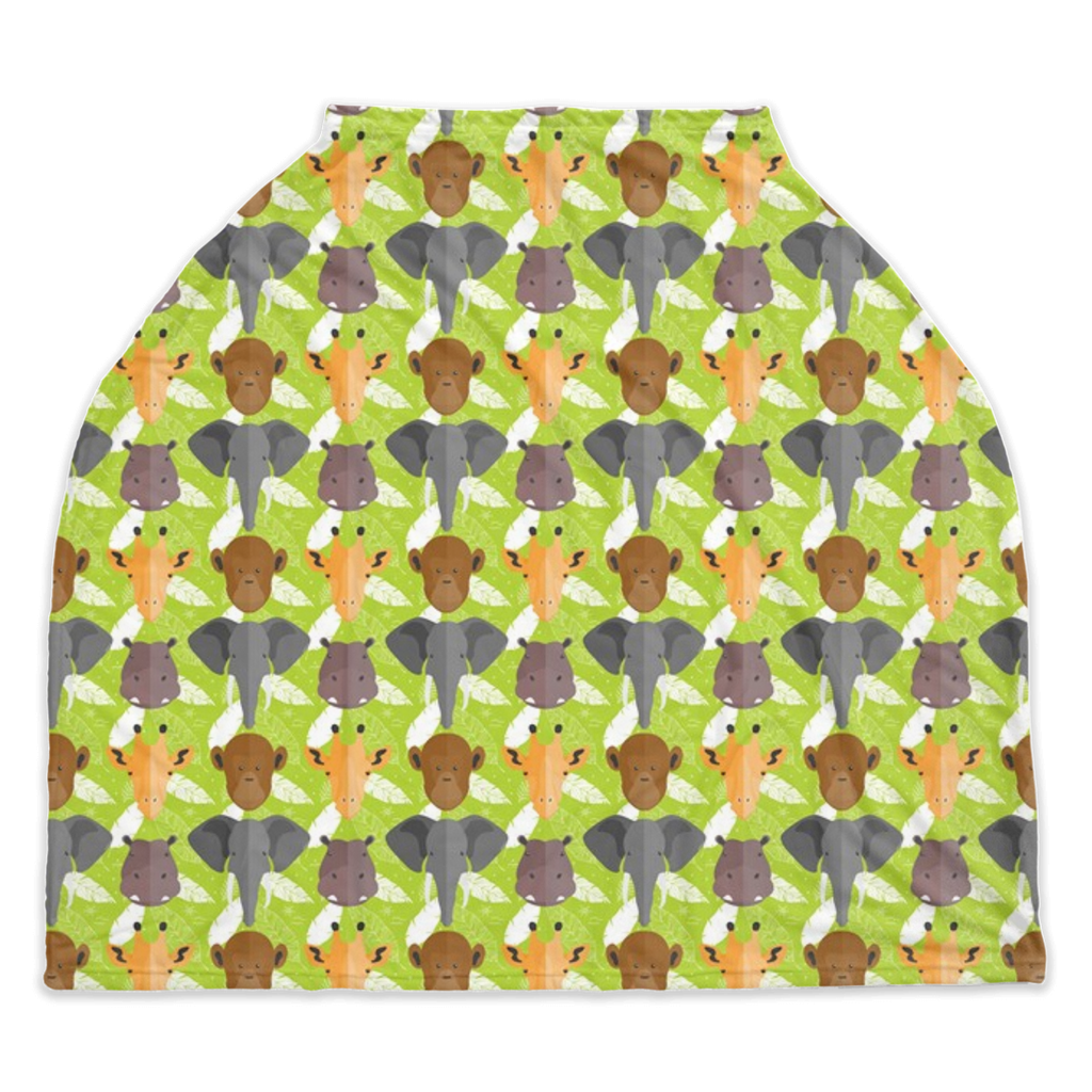 Safari Animal Car Seat / Nursing Cover