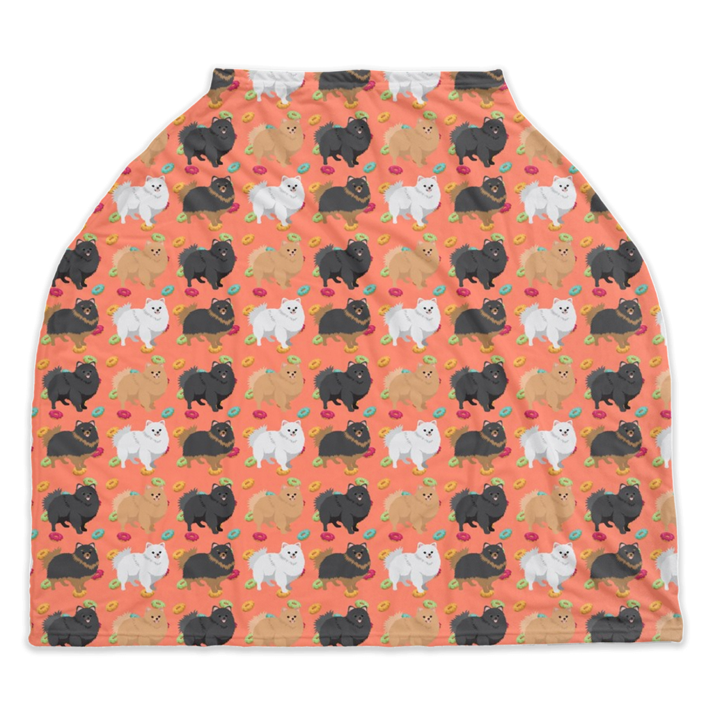 Pomeranian and Donuts Car Seat / Nursing Cover