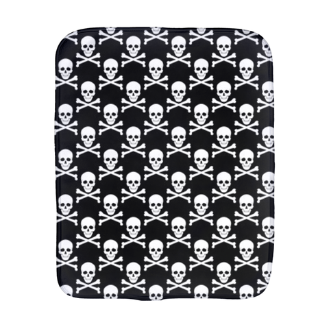 Skull and Cross Bones Burp Cloth