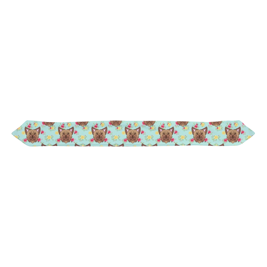 Floral Yorkshire Terrier Yorkie Infant & Toddler Top Knot Headband