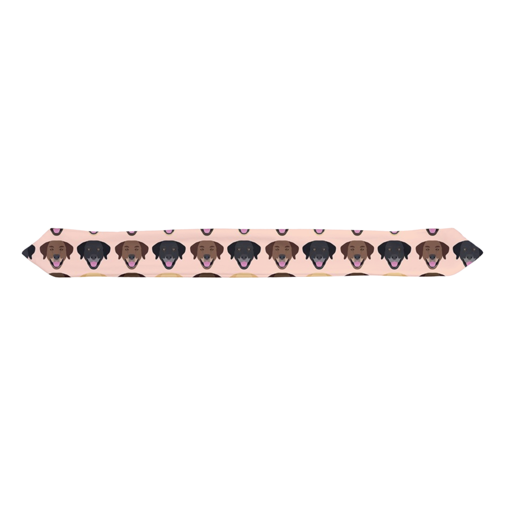 Labrador Retriever on Peach Infant & Toddler Top Knot Headband