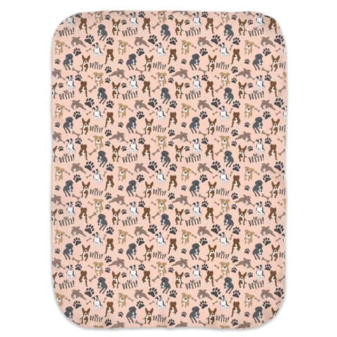 So Pitty on Peach Pitbull Ultra Soft Jersey Knit Swaddle Blankets