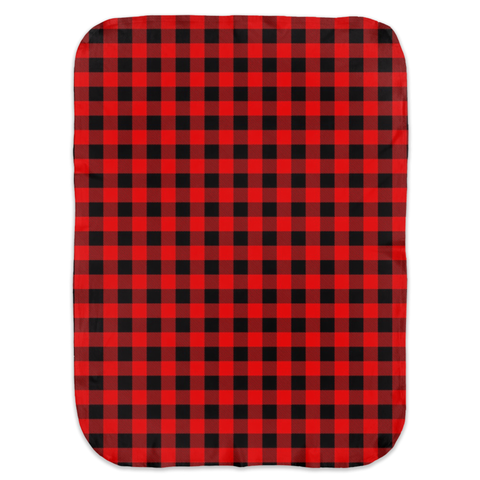 Buffalo Plaid Ultra Soft Jersey Knit Swaddle Blankets