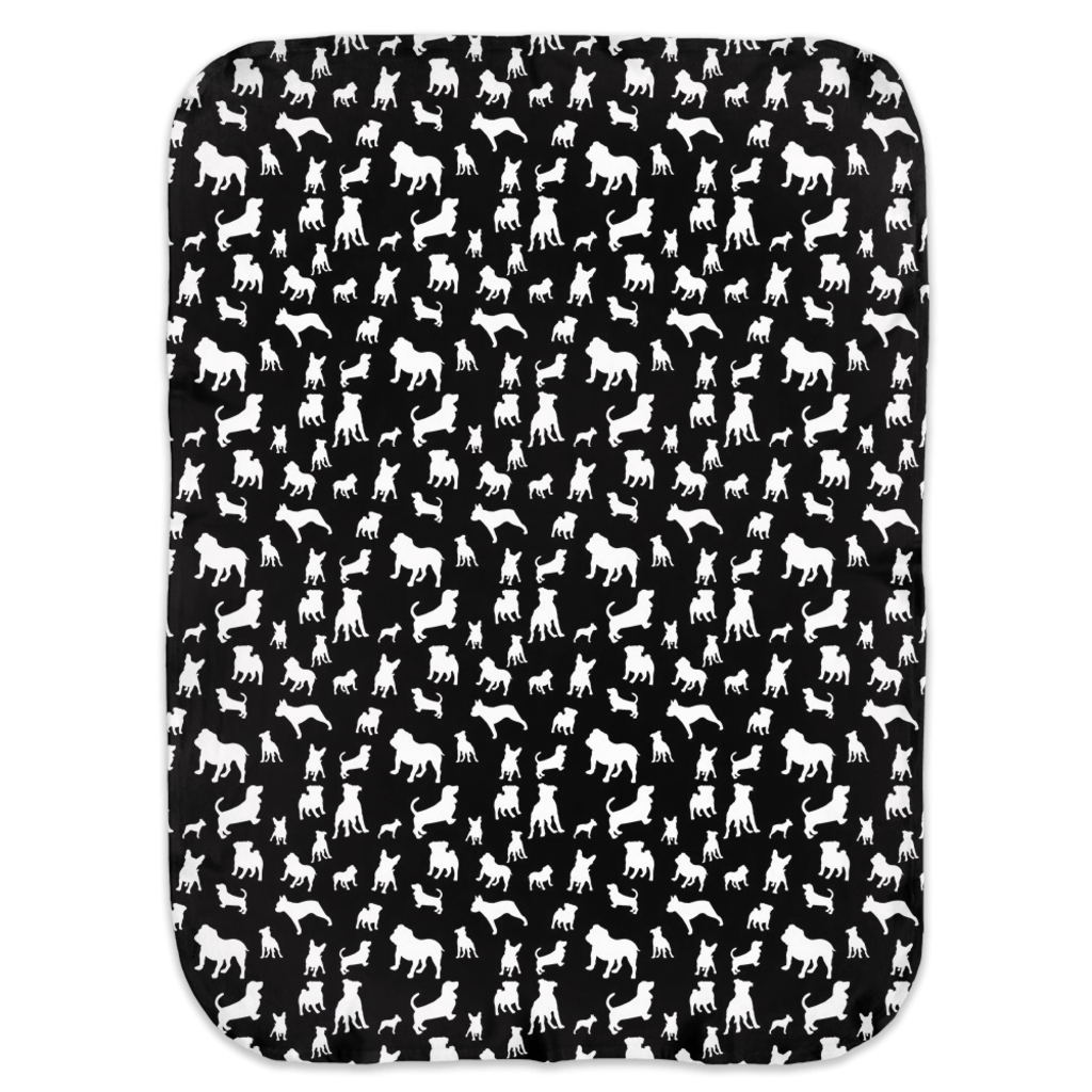 Monochrome Puppies Ultra Soft Jersey Knit Swaddle Blankets