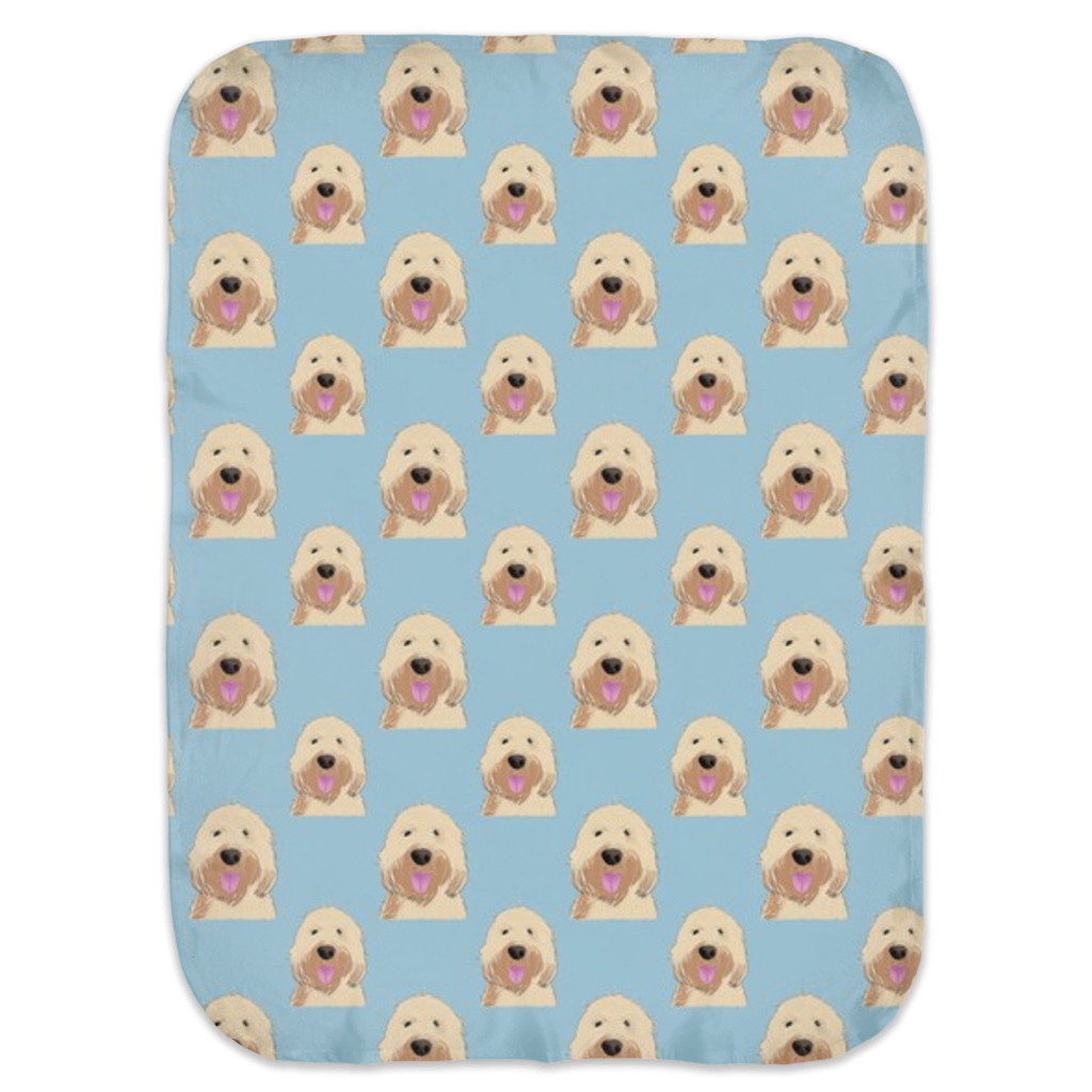 Goldendoodle Ultra Soft Jersey Knit Swaddle Blankets