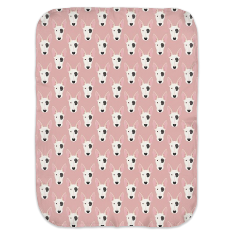 Bull Terrier Ultra Soft Jersey Knit Swaddle Blankets