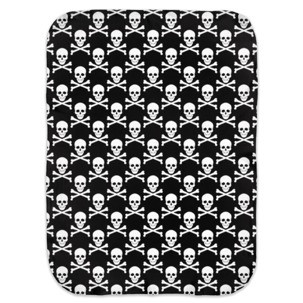 Skull and Crossbones Ultra Soft Jersey Knit Swaddle Blankets