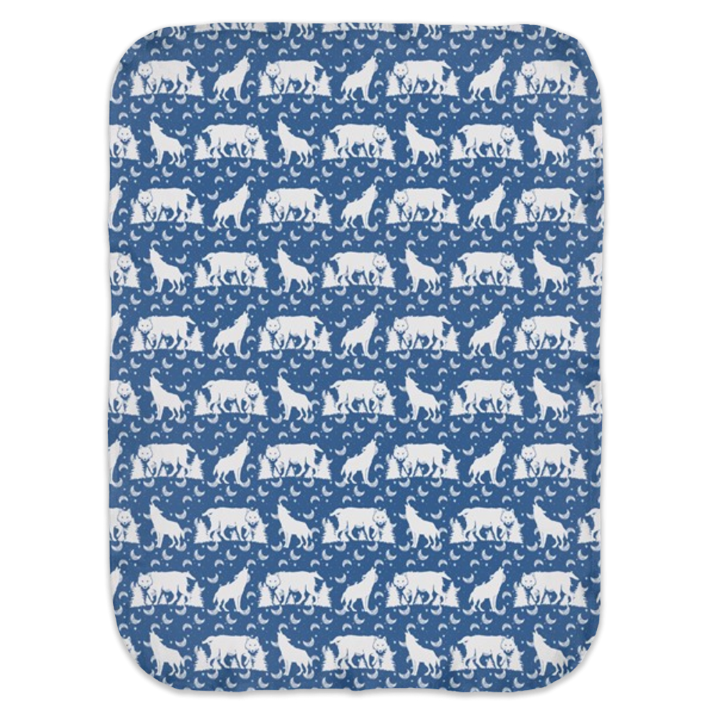 Wolf Ultra Soft Jersey Knit Swaddle Blankets