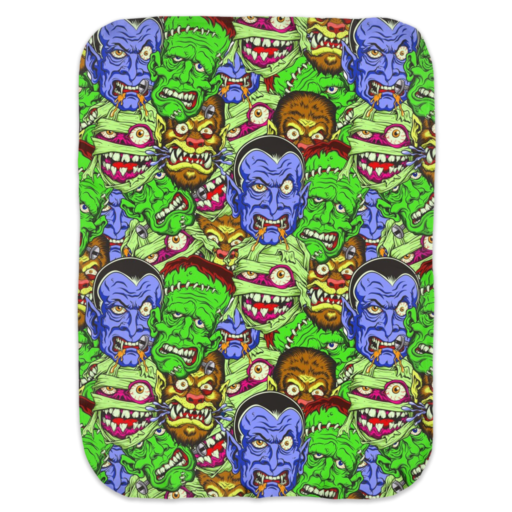 Movie Monster Ultra Soft Jersey Knit Swaddle Blankets