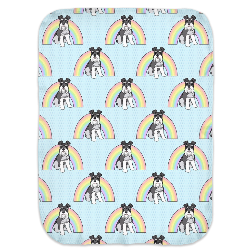 Rainbow Schnauzer Ultra Soft Jersey Knit Swaddle Blankets