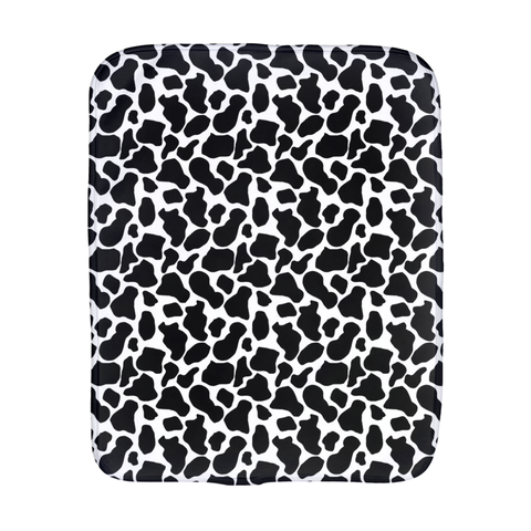 Cow Print Burp Cloth