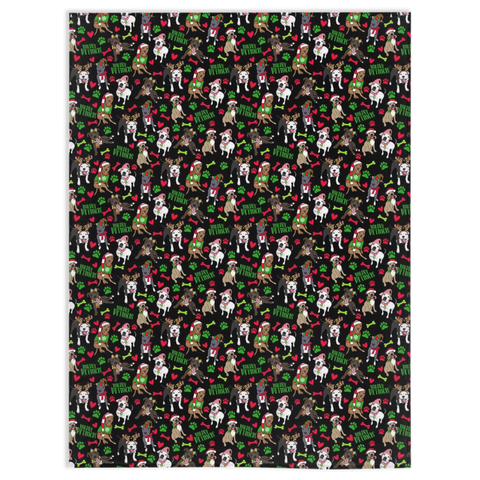 Merry Pitmas Christmas Pitbull Blanket