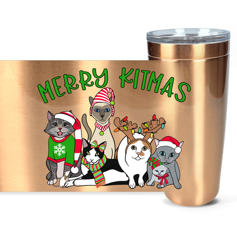 Merry Kitmas Christmas Travel Mug