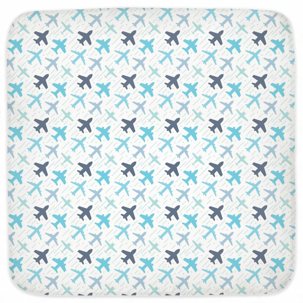 Airplane Hooded Baby Towels