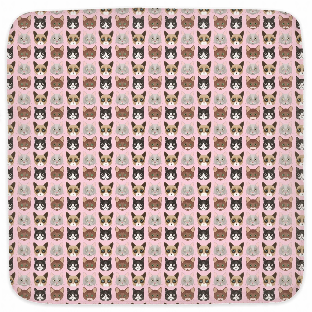 Pink Cat Hooded Baby Towels