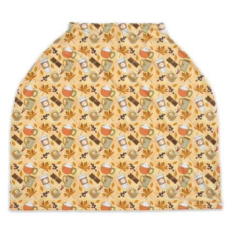 Fall Spice Seasonal Car Seat / Nursing Cover
