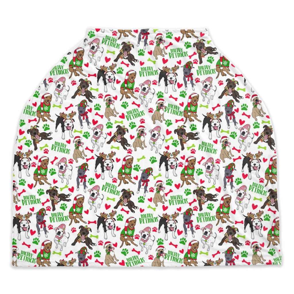 Merry Pitmas Christmas Pitbull Seasonal Car Seat Covers