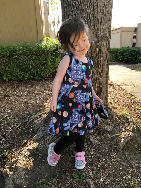 Astronaut outer space Ballerina Twirl Dress