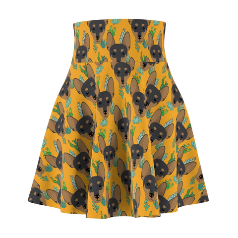 Miniature Pinscher Women's Skater Skirt