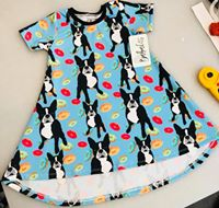 Boston Terrier and Donuts Shirt Dress