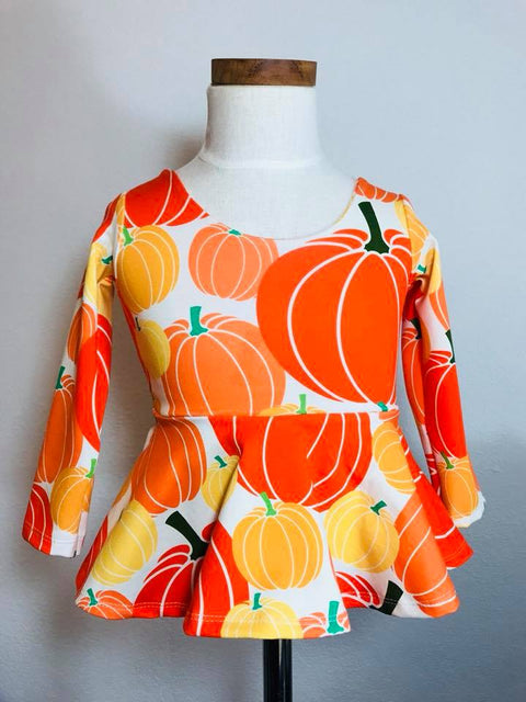 Pumpkin Patch Peplum Top