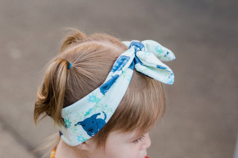 Floral Dori the Pitbull Infant & Toddler Top Knot Headband