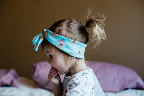Floral Goldendoodle / Wheaten Terrier Infant & Toddler Top Knot Headband