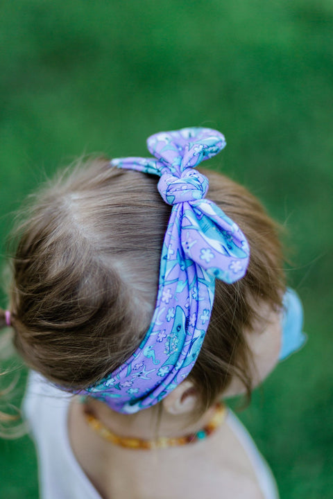 Floral Shark Infant & Toddler Top Knot Headband